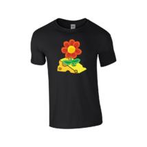 Ábel sajtospittypang férfi póló fekete L