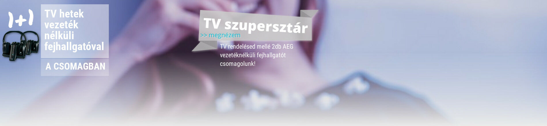 TV mellé AEG fejhallgató