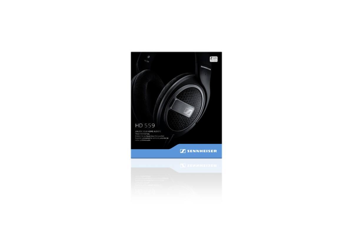 Sennheiser HD 559 Stereo fejhallgató - fekete ergonómikus legendás hangzású 0ff54cddd3