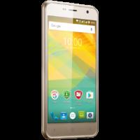 "Prestigio Muze B3, PSP3512DUO, dual SIM, 3G, 5.0"" (720*1280) IPS display, Android 6.0 Marshmallow, quad core 1.3GHz, 1GB RAM + 8GB eMMC, 2.0MP front + 8.0MP rear camera with LED-flash, 2000mAh battery, golden"