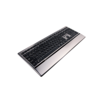 CANYON Stylish slim USB multimedia keyboard, LED backlight, Hungarian layout