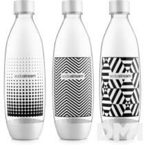 Sodastream Bottle Jet 3x1l fekete-fehér szénsavasító flakon