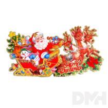 3D Merry Christmas feliratú/32x17cm 2db karton dekoráció