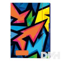 Herlitz Neon Art A4 gumis mappa