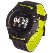 Smartwatch, Garett Sport 25 GPS Fekete - Zöld Okosóra