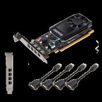 PNY NVIDIA Quadro P620, 2GB GDDR5 (128 Bit), 4x miniDP (4x miniDP to DP), LP