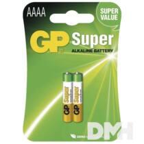 GP Super alkáli AAAA (25A) 2db/bliszter elem