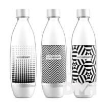 Sodastream Bottle Fuse 3x1l fekete-fehér szénsavasító flakon
