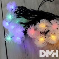 Zúzmara alakú 3cm/5m/IPX3 szabványos/több színű/20db LED-es/napelemes fénydekoráció