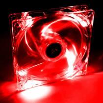 Akyga System fan 12 cm LED red AW-12A-BR Molex 120x120 mm