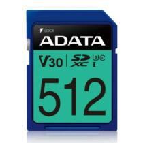 ADATA 512GB Premier Pro SDXC UHS-I U3 Class 10 (V30S), R/W  100/80 MB/s