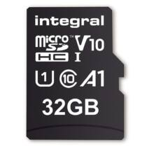 Integral 32GB MICRO SDHC 100V10, Read 100MB/s  U1 V10 + ADAPTER