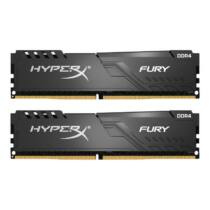 Kingston 16GB HyperX FURY 3200MHz DDR4 CL15 DIMM (Kit of 2) 1Rx8 Fekete