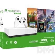 Microsoft Xbox One S 1TB All-Digitall Edition + Minecraft + Sea of Thieves + Fortnite játékkonzol csomag