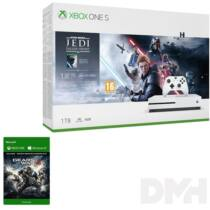 Microsoft XBOX One S 1TB konzol + Star Wars Jedi: Fallen Order + Gears of War 4 játékszoftver