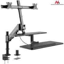 Maclean MC-797 Holder for two monitors and a keyboard up to 8kg 13 ''-32''