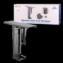 LOGILINK - Adjustable under desk CPU mount, rotatable, slidable