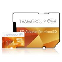Team Group Memóriakártya Micro SDXC 128GB UHS-I +Adapter, Sárga
