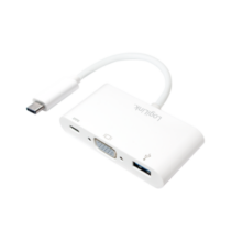 LOGILINK - USB-C 3.1 to VGA multiport adapter with PD