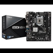ASRock H310CM-HDV/M.2, INTEL H310 Series, LGA1151, 2 DDR4, 4 x SATA3