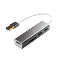 LOGILINK - USB 3.0 hub, 3 port, with card reader