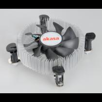 Akasa CPU cooler AK-CCE-7106HP, LGA775/115X, PWM fan, Low Profile
