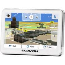 """NAVON N670 Plus fehér 5"""" iGO Primo 2.01 Európa élettartam térképpel GPS navigáció"""
