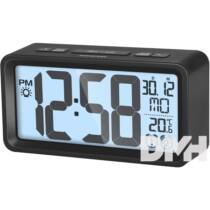 Sencor SDC 2800 B fekete digitális ébresztőóra hőmérővel