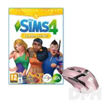 The SIMS 4 Island Living PC játékszoftver + Trust GXT 101P Gav USB gamer pink egér csomag