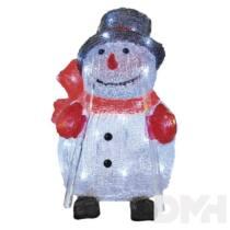 Emos ZY2349T 24x28cm/30LED/IP44/fehér időzítős karácsonyi hóember dekoráció