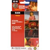 ActiveJet tinta, AC-40R | Black | 25 ml | Refill | Canon PG-40