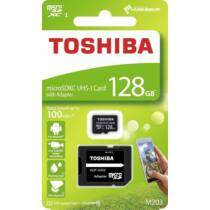 Toshiba Memóriakártya Micro SDXC 128GB M203 Class 10 UHS-I + Adapter