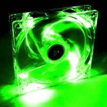 Akyga System fan 12 cm LED green AW-12A-BG Molex 120x120 mm