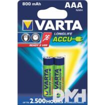 VARTA Ready2Use AAA (HR03) 800mAh akkumulátor 2db/bliszter