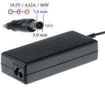 Akyga notebook power adapter AK-ND-07 19.5V/4.62A 90W 7.4x5.0 mm + pin DELL