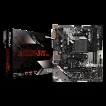 ASRock A320M-DVS R4.0, AM4, 2xDDR4 3200+, DVI-D, D-Sub, USB3.1