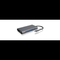 IcyBox Docking Station USB Type-C, 3xUSB, HDMI 4k@30Hz, VGA, SD/microSD