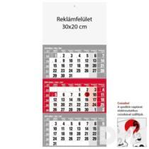 Realsystem 6061 12lapos piros speditőrnaptár