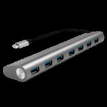 LOGILINK- USB-C 3.1 hub, 7 port, aluminum casing, grey
