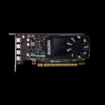 PNY NVIDIA Quadro P1000, 4GB GDDR5 (128 Bit), 4x miniDP (4x miniDP to DP), LP