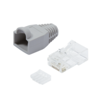 LOGILINK - Plug Connector Cat.6 RJ45 100pcs. set, unshielded, grey