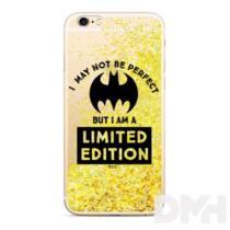 Bat Girl 007 iPhone X/XS csillámos folyadékos arany hátlap
