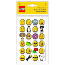 LEGO Iconic stickers set 4 sheets, 110mm x 175mm, 96 stickers