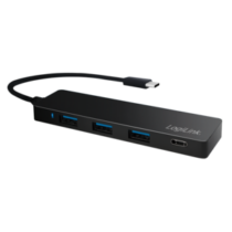 LOGILINK- Ultra-slim USB-C 3.1 hub, 4-port, black