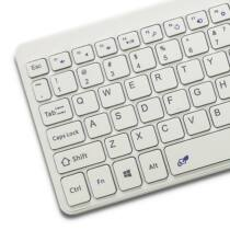 Qoltec Wireless Touchpad keyboard   2.4GHz   white