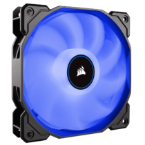 Corsair AF140 LED High Airflow Fan 140mm, low noise, single pack, blue