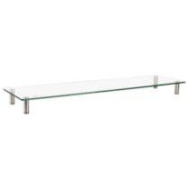 LOGILINK - Glass tabletop monitor riser, extra wide, max. 20 kg