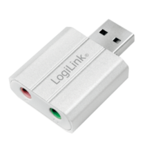 LOGILINK - USB audio adapter, silver