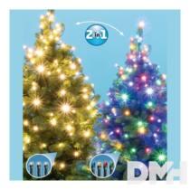 Home LED 105/WW/M 7m/100 LED/kül-beltéri/5 program/meleg fehér-színes karácsonyi fényfüzér