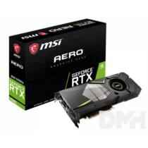 MSI RTX 2080 AERO 8G nVidia 8GB GDDR6 256bit PCIe videokártya